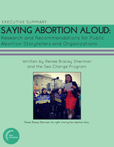 Saying Abortion Aloud Summary Cover